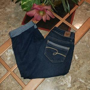 """Justice Bottoms - Jrs Capris by """"Justice Jeans"""" Sz (12R)"""